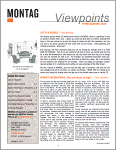 Front cover, MONTAG Viewpoints Q3 2020