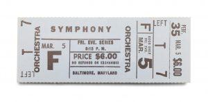 Symphony Ticket